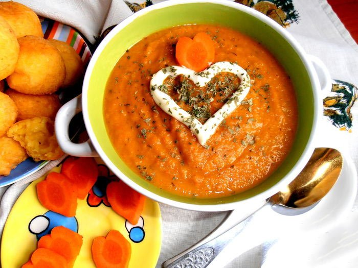 Рецепт Суп-пюре из морковки