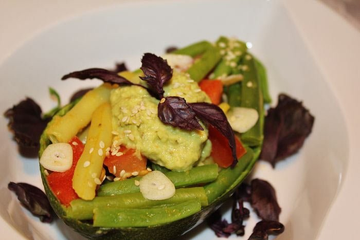 Рецепт Салат из стручковой фасоли и авокадо