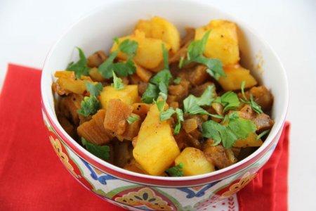 Рецепт Овощной карри из картофеля и баклажанов