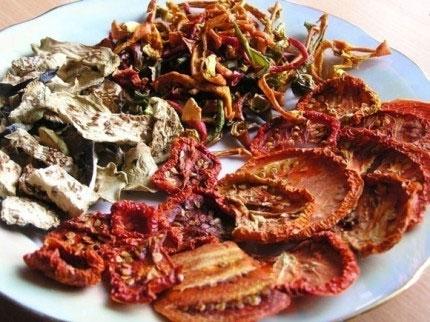 Рецепт Сушеные овощи. Приготовление   блюда