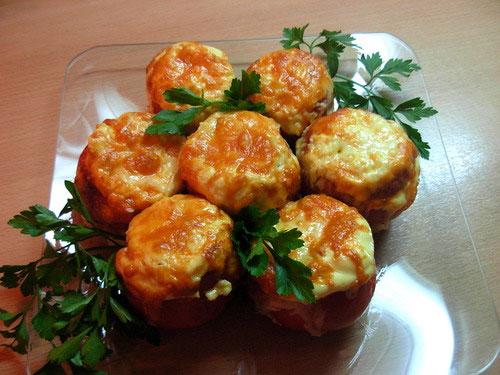Рецепт Помидоры фаршированные баклажанами
