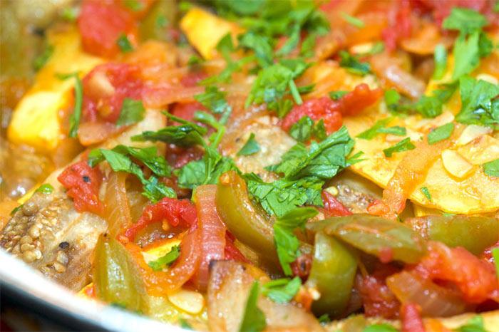 Рецепт Рататуй с черри и вялеными томатами