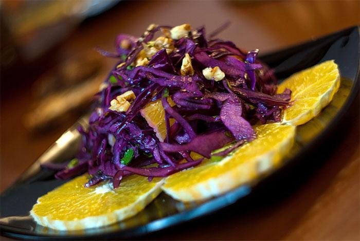 Рецепт Салат из красной капусты с апельсином