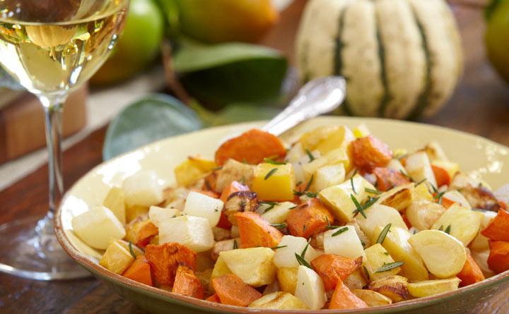 Рецепт Запеченные корнеплоды с репой и розмарином