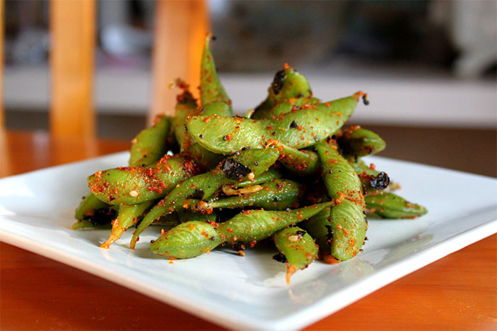 Рецепт Острые эдамаме. Приготовление   блюда