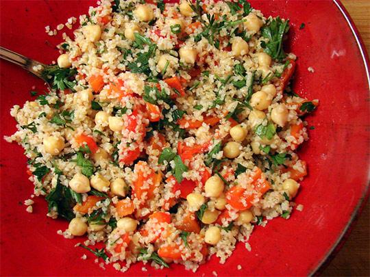 Рецепт Табуле с булгуром и нутом. Приготовление   блюда