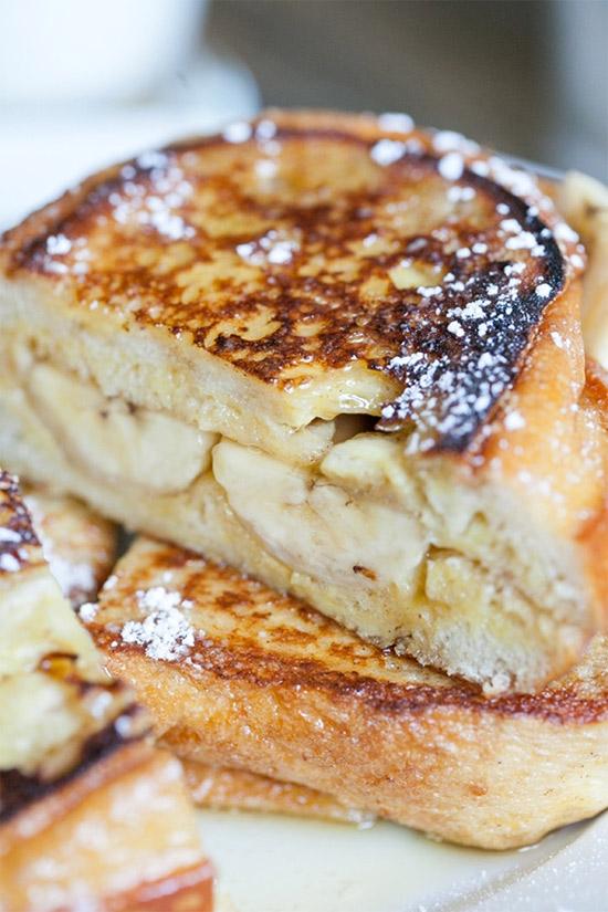 Рецепт Банановый сэндвич. Приготовление   блюда