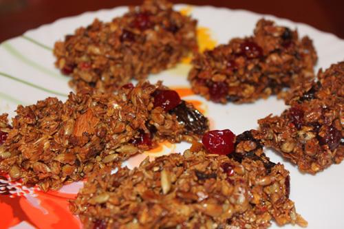Рецепт Батончики мюсли с ягодами