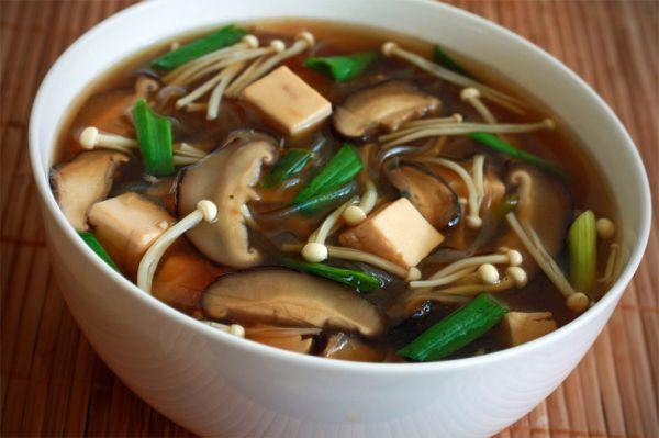 Рецепт Мисо суп с шиитаке и энокитаке