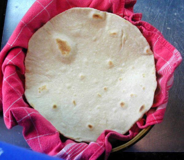 Рецепт Мексиканская лепешка тортилья из кукурузной муки