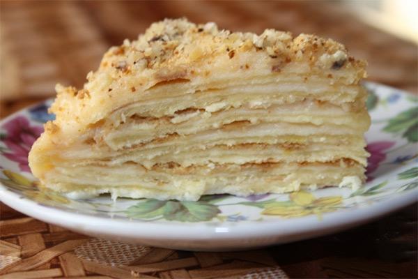 Рецепт Торт «Наполеон» классический с заварным кремом от Анастасии Скрипкиной