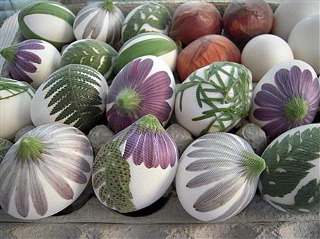 Красивые яйца на пасху с натуральными красителями