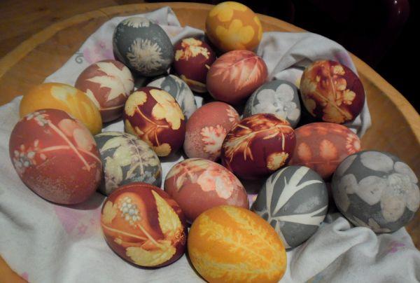 Рецепт Красивые яйца на пасху с натуральными красителями