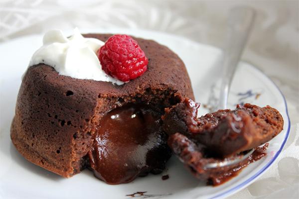 Рецепт Шоколадный пирожное десерт фондан