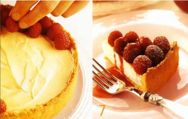 Малиновый пирог с меренгой