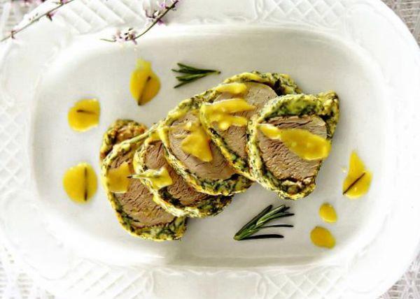 Рецепт Свиная вырезка запеченная в духовке с травами