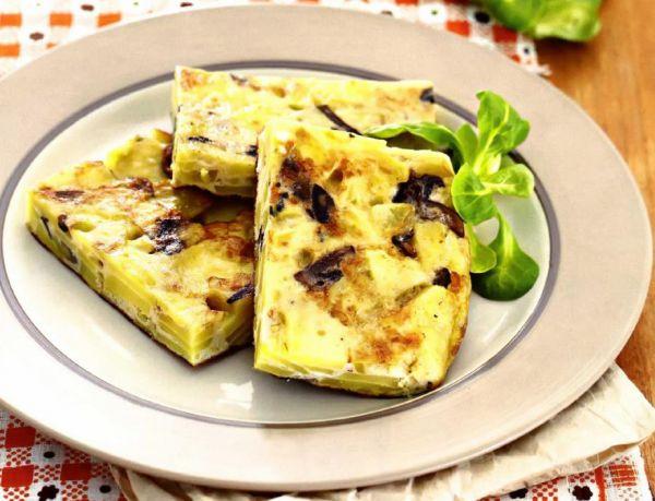 Рецепт Испанский омлет с картофелем и грибами (Тортилья)