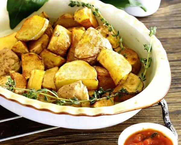 Рецепт Жареный картофель с соусом айоли