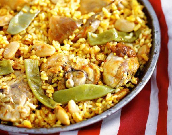 Рецепт Испанская паэлья с курицей и кроликом