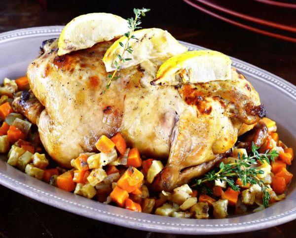 Рецепт Курица с лимоном в духовке