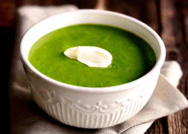 Рецепт Суп из кабачков со шпинатом