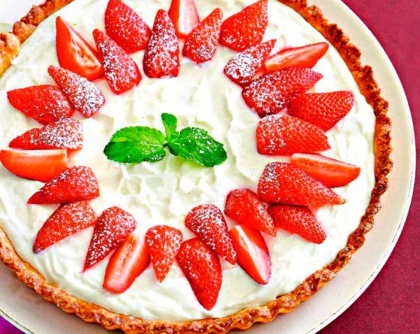 Рецепт Французский тарт с клубникой