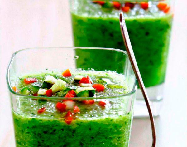 Рецепт Зеленый гаспачо из огурцов