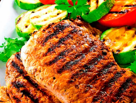 Рецепт Свинина на гриле с овощами