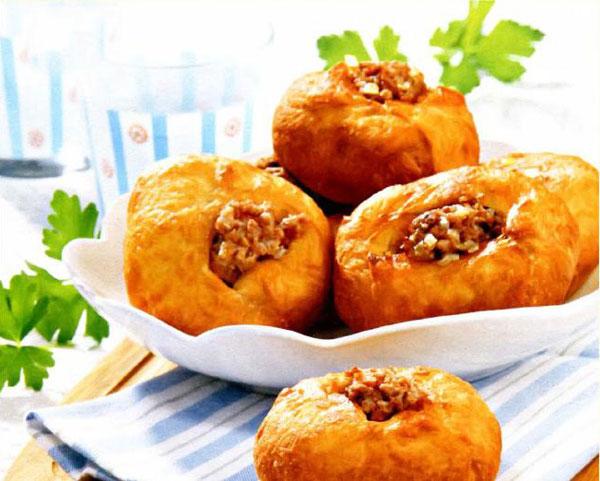 Рецепт Домашние беляши с мясом по татарски