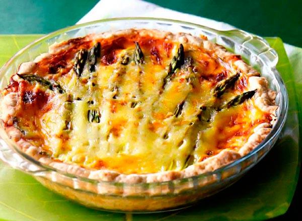 Рецепт Французский пирог со шпинатом и спаржей