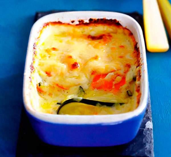 Рецепт Овощная лазанья из кабачков и моркови
