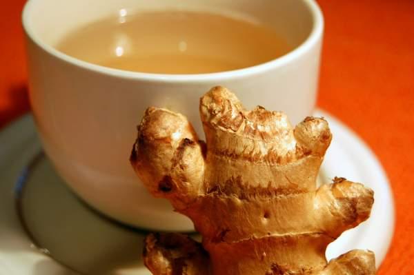 Рецепт Китайский имбирный чай с мятой и лимоном