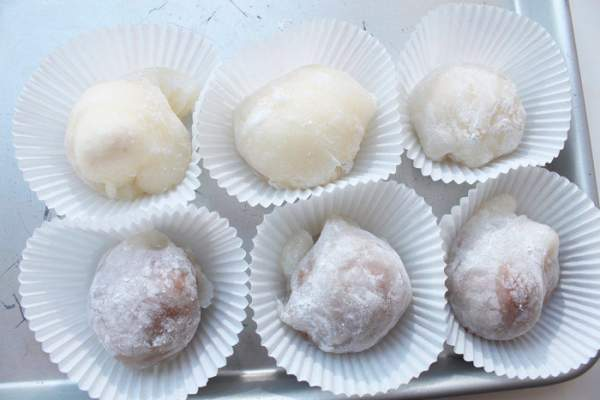 Японское мороженое Юкими из теста Моти (Мочи)