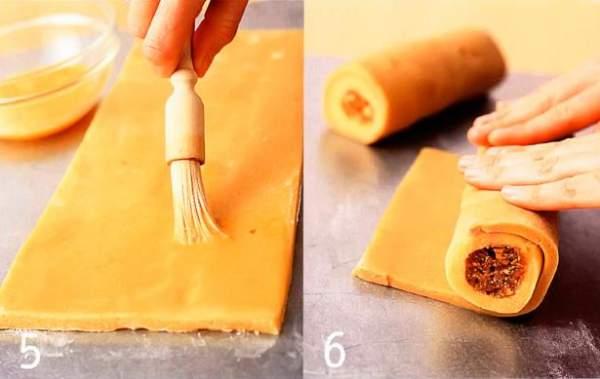 Шведское пирожное песочное с миндальным кремом