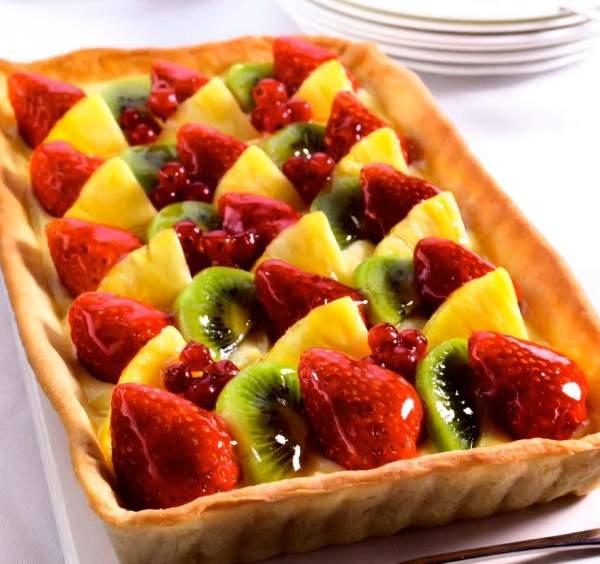 Рецепт Классический фруктовый тарт с клубникой с ягодами