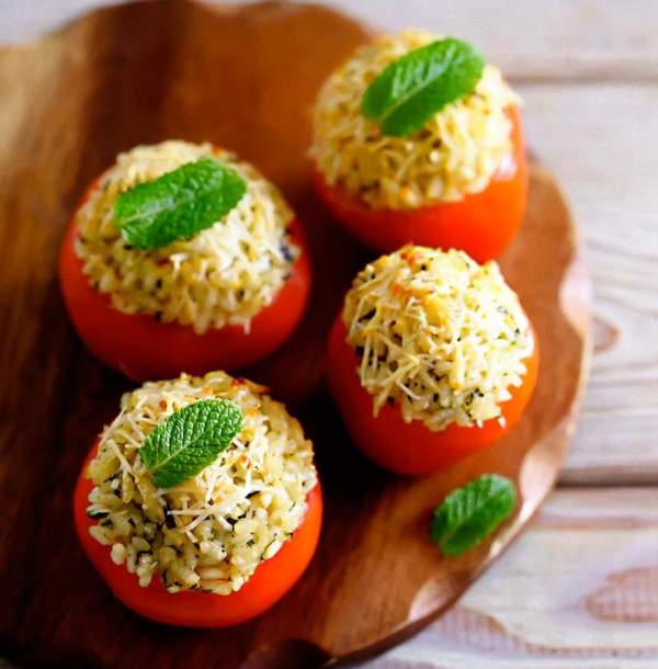 Рецепт Итальянские фаршированные помидоры в духовке
