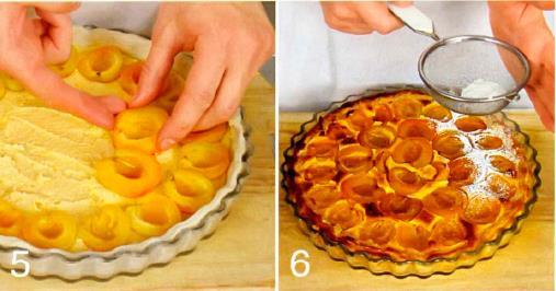 Прованский пирог с абрикосами и миндальным кремом
