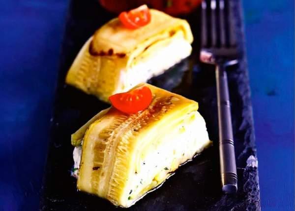 Рецепт Террин из кабачков и козьего сыра с мятой