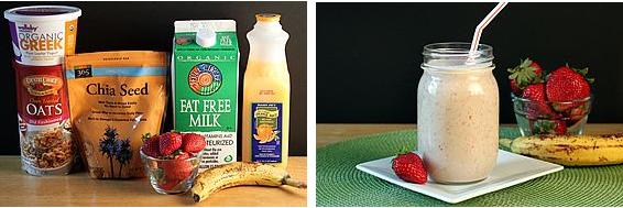Полезные рецепты фруктовых смузи с овсянкой для похудения на завтрак либо перекус