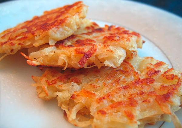 Рецепт Вкусные драники постные из картофеля в духовке