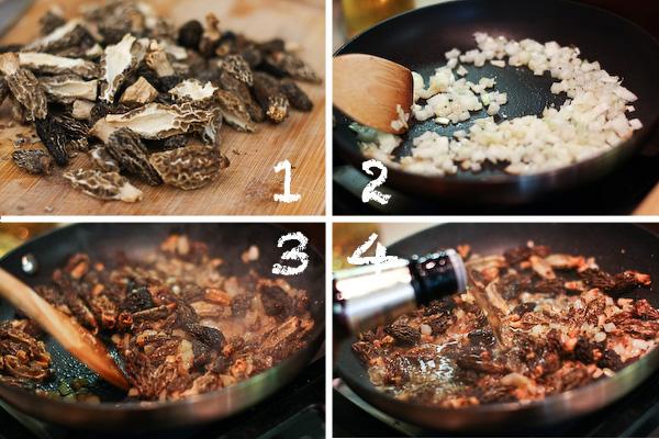 Сливочно-грибной соус из сморчков с виски