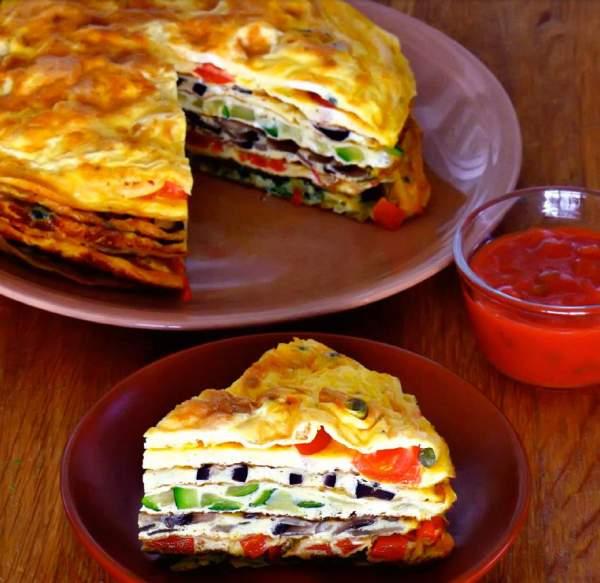 Рецепт Французский омлет на сковороде с разными начинками
