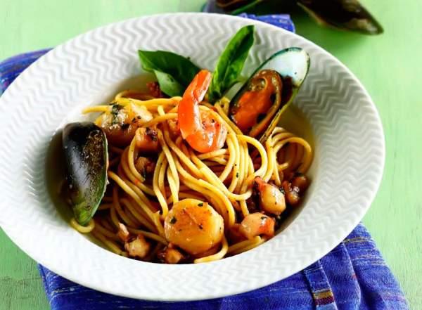 Рецепт Итальянская паста с морепродуктами