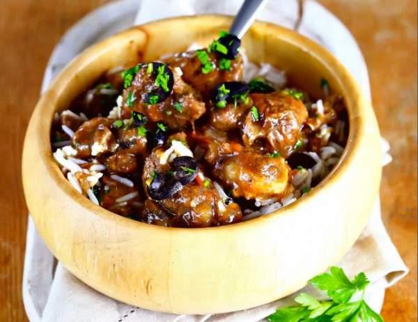Рецепт Баранина тушеная с маслинами