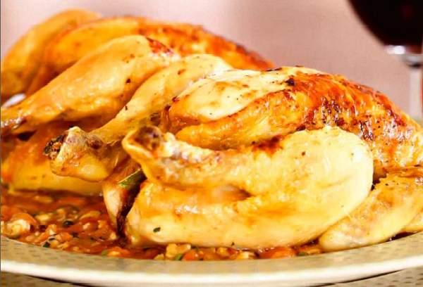 Рецепт Цыпленок в духовке в сливочно-чесночном соусе