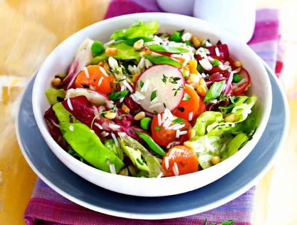Рецепт Салат с рисом и летними овощами