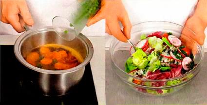Салат с рисом и летними овощами