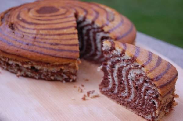 торт зебра рецепт без фото