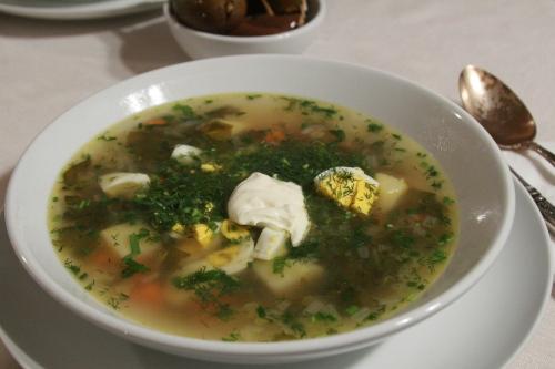 Рецепт Украинский суп из щавля (Зелёный борщ)