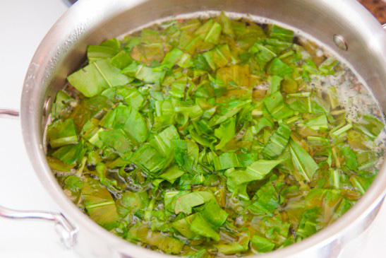 Украинский суп из щавля (Зелёный борщ)